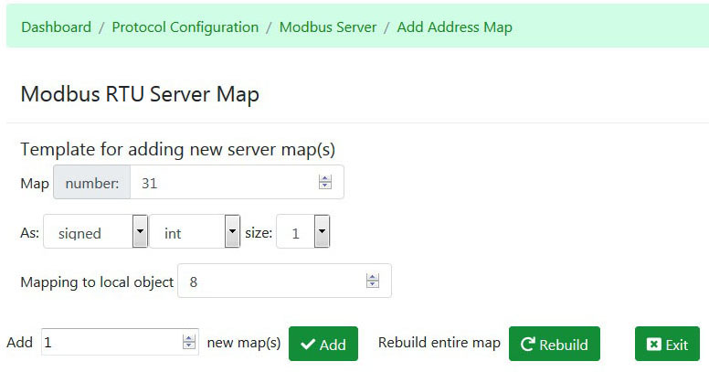 Modbus RTU Slave Address Table Edit - Control Solutions
